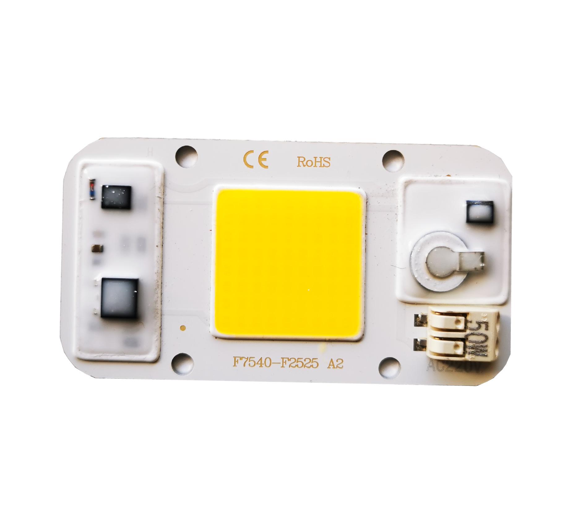 50W LED COB Chip Solderless (Warm White)